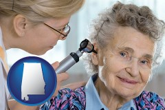 al a otolaryngologist examining the ear of a patient